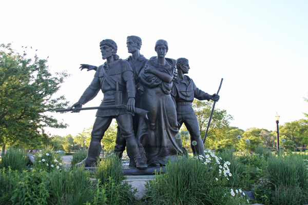 Pioneer Family Memorial - by Trygve A. Rovelstad