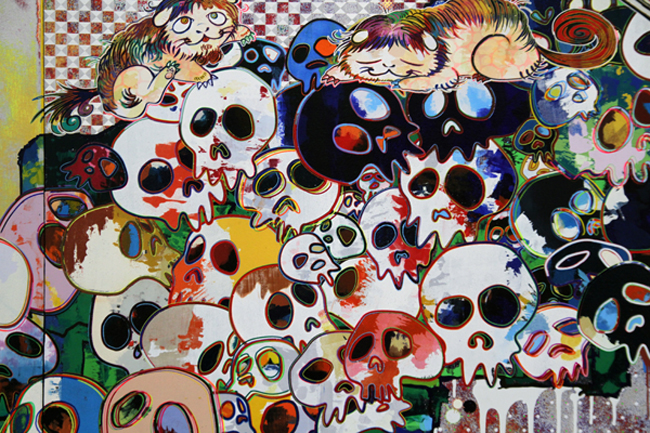Of Chinese Lions, Peonies, Skulls, and Fountains [ 2012] - by Takashiu Murakam