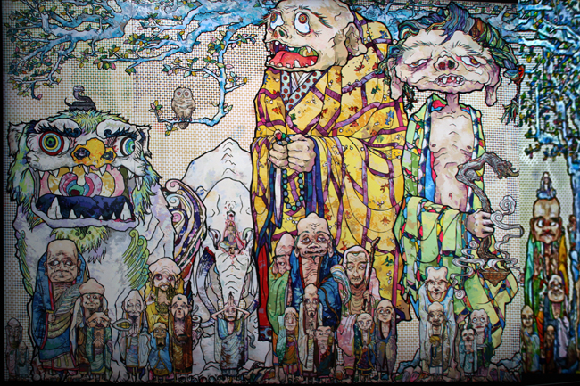 69 Arhats beneath the Bodhi Tree - by Takashi Marakami