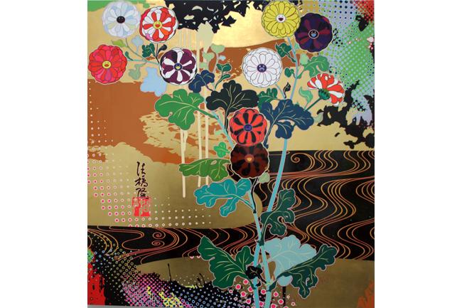 Kansei Gold [2008] - by Takashi Murakami