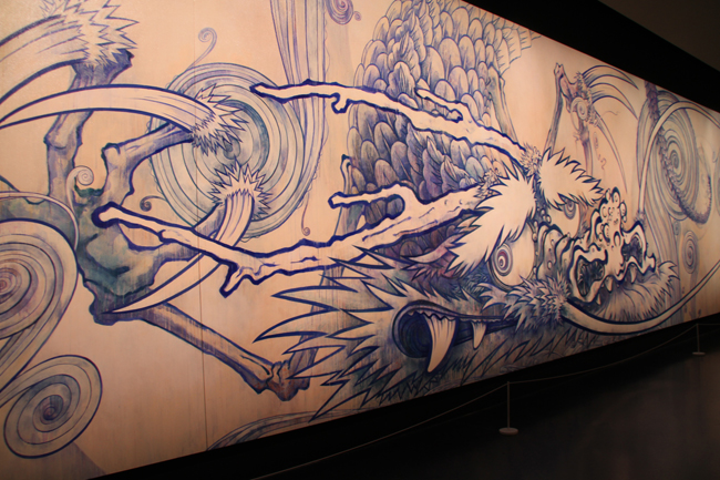 Dragon on Cloud - Indigo Blue [2010] - by Takashi Murakami