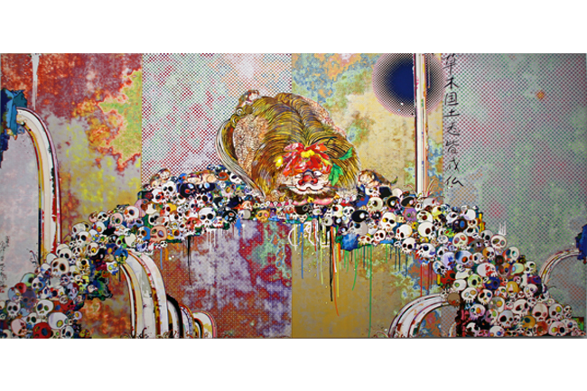 Of Chinese Lions, Peonies, Skulls, and Fountains [ 2012] - by Takashiu Murakami