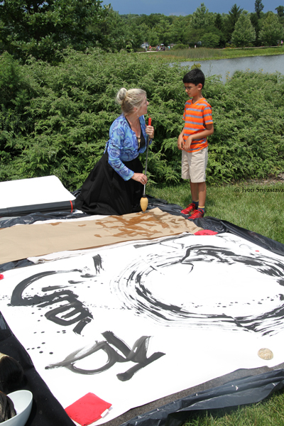Sumi-E Ink Painting / Patricia Larkin Green talking to Neel