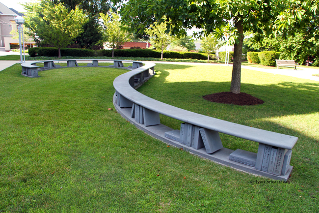 Reading Garden Book Bench - by David B. Melchert