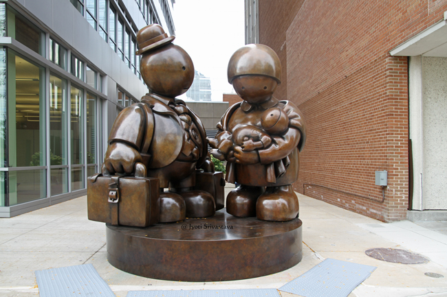 Immigrant Family - by Tom Otterness.
