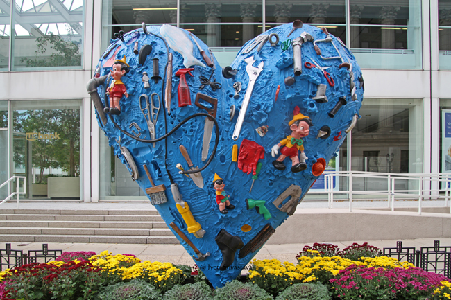 The Heart Called after the Flood - by Jim Dine.