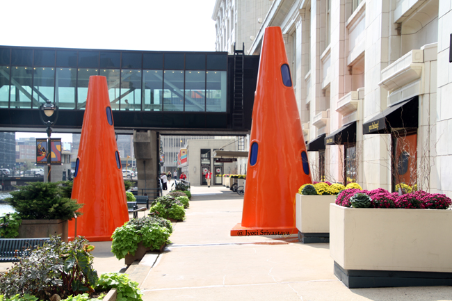 Safety Cones - by Dennis Oppenheim