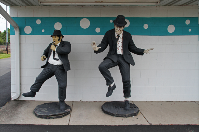 Route 66 / The Blues Brothers at Polk-A-Dot Drive In Restaurant   / Briadwood, IL.