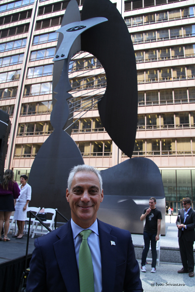 A restaging of the 1967 Chicago Picasso dedication