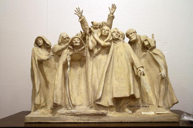 The Blind - by Lorado Taft / Plaster Cast Working Model / Oregon Public Library, Oregon, IL.