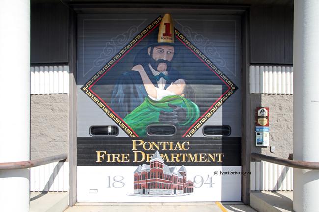 Pontiac Fire Department - by Stephan Connor / Mural Tour, Pontiac