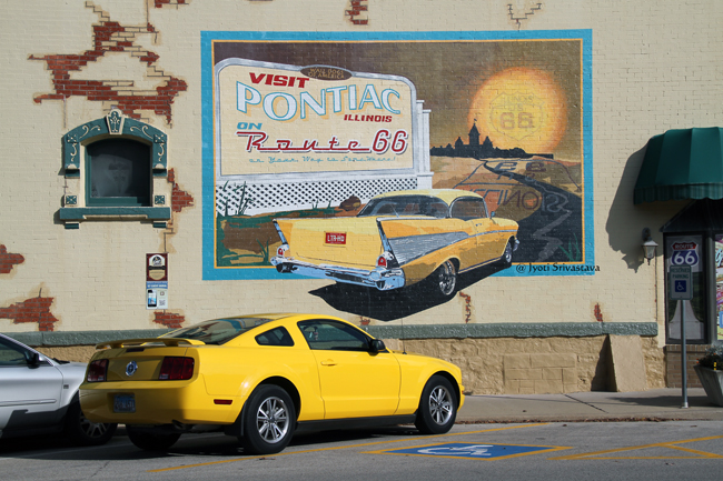 Pontiac on Route 66 - by Tom and Kathy Durham / Mural Tour, Pontiac