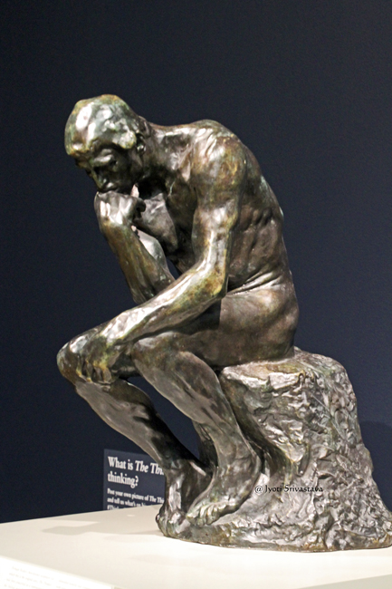 The Thinker - by Auguste Rodin