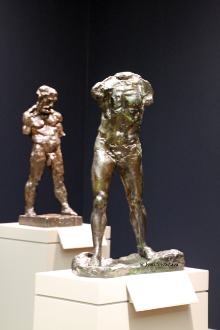 The Waling Man - by Auguste Rodin/ The Serf bu Henri Matisse