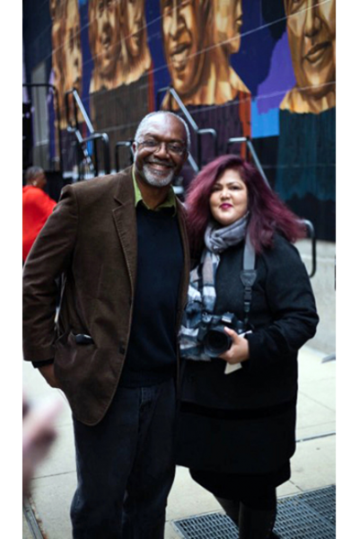 Portrait with Internationally acclaimed artist Kerry James Marshall. / Photo courtesy Lee Bey