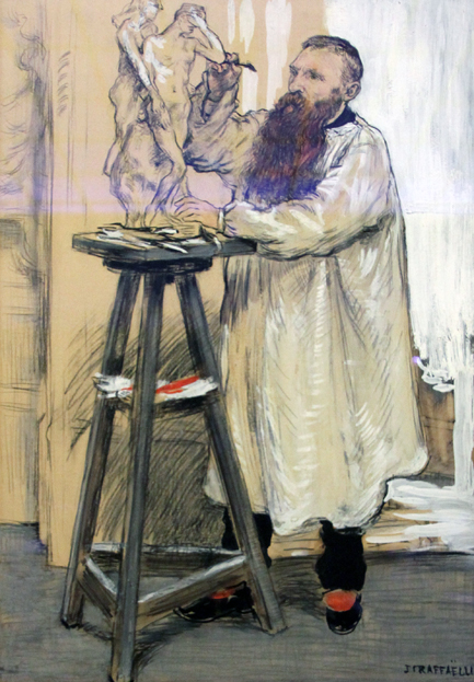 Portrait of the Sculptor Auguste Rodin in his Studio