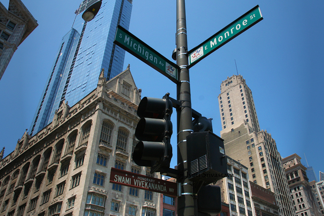 Swami Vivekanand Way / Michigan Avenue, Chicago.