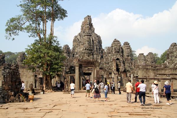 Bayon - center of the walled city Angkor Thom