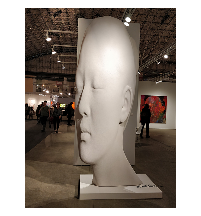 Laura Asia in White [2017] - by Jaume Plensa