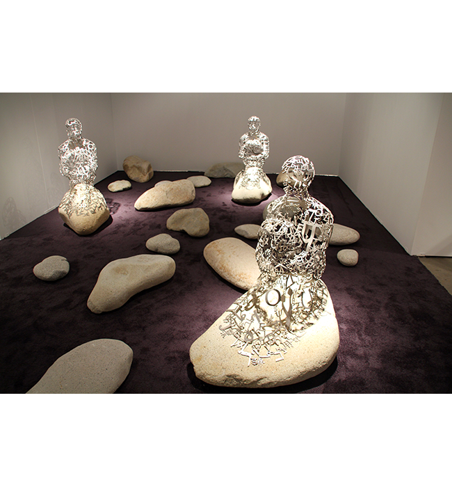 Islands [2012] - by Jaume Plensa / Richard Gray Gallery.
