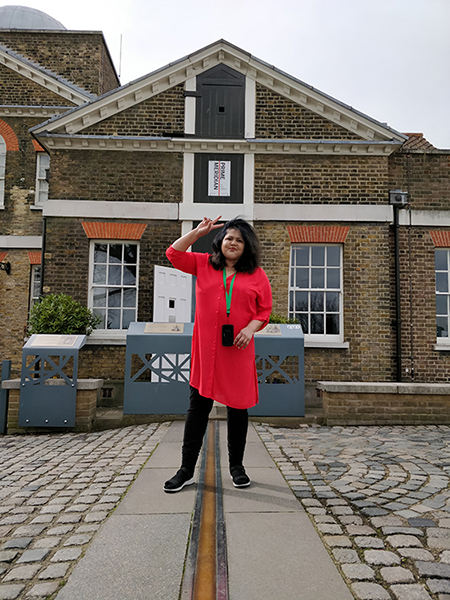 Standing on the Prime Meridian Line