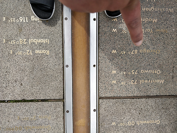 Standing on the Prime Meridian Line / Chicago