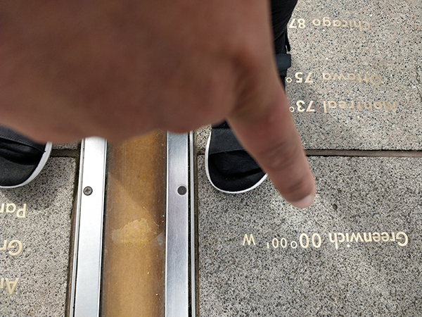 Standing on the Prime Meridian Line / Greenwich